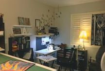 Quilt & Sewing Studio Ideas & Tips / Ideas to create for my Studio for organization and inspirations.