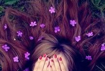 Purple hair & burgundy
