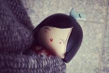 Kokeshi, momiji, lovely mini dolls