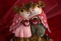Valentine's Day Mice / Whimsical mouse miniatures from Wee Forest Folk!