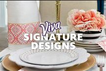 Signature Designs / Outfit your home in this year's chicest cleaning accessory, Alyssa Milano Signature Designs by Viva® Towels.