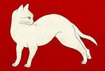 "Murka / Murzik / miau (español) - meu (catalán) - meow (inglés) - ニャー nyaa (japonés) - miaou (francés) - miau (alemán) - iaa (coreano) - ""miao"" 喵 (chino) (http://es.wikipedia.org/wiki/Onomatopeya) / by Natalia B"