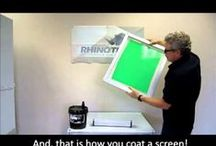 "Digital, Screen & Graghics Printing / Digital heat transfer printing printers, heat presses and transfer papers here! Screen frame cleaning products here with ""green"" options! / by RhinoTech"