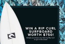 WIN A RIP CURL SURFBOARD! / WIN a Rip Curl surfboard worth $750! Terms and Conditions here > http://www.theiconic.com.au/ripcurl-termsofss14competition/