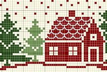 Punto de cruz Navidad (Christmas Cross stitch)