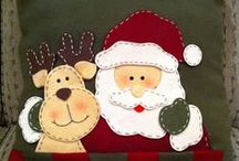 Christmas felt - Navidad en fieltro, Paño Lench