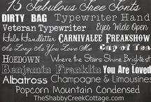 Font Room / by Creative Coquette