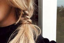 Hair inspirations / How to manage our hair ? Natural hair or sophisticated hair - tresse en épi - queue de cheval - wavy hair / ideas coiffure