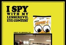 I Spy LesserEvil Healthy Brands / Find LesserEvil products - a contest to see who can spot our snacks!