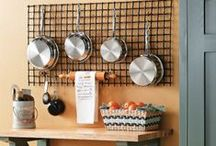 Kitchen Ideas / From organizing pots and pans, to stylish ways to store silverware, this board is full of ideas on how to keep your kitchen organized. Plus, we show you some fun DIY projects for kitchen decorating. / by My Home My Style