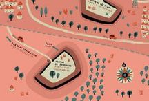 MAP ILLUSTRATION / Travel and maps illustrations graphic design / by Mzelle Fraise