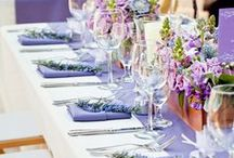 Purple Party / A glowing purple custom marble bar, lavender and purple geodes. Here is our take on tasteful purple party decor! #VENUE221 #PurpleParty