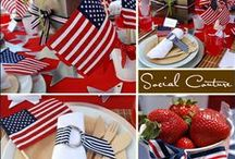 *** Red, White & Blue *** / by Elaine