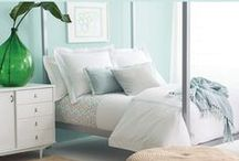 Coastal & Nautical-Inspired Bedding and Decorating / Unfussy femininity forecasts only blue skies ahead. Cape Calm shows off shades of blue, grey, and pinks for home decor inspiration including our collection of bedding, pillows, throws, bath accessories, sleepwear, table linens, and more.  / by Pine Cone Hill