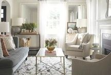 HOME: Living Room / Ideas for the living room: rugs, color scheme, furniture, lighting, wall decor