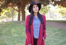 FASHION: Fall + Winter Looks / Fall and Winter Outfits: Coats, scarves, dark colors, boots, etc.