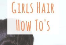 Girls hair how to tutorials / Hair tips & ideas for styling hair for my teenagers to learn to do by themselves. Hair style ideas, suggestions & products for girls hair do's.