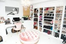 Boudoir & Walk in / Great girly ideas for a boudoir, walk in or large closet. / by Anne Lehmann