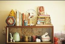 Homes ~ Storage & Lovely Clutter / All sorts of niknacs and things to store them on or in.
