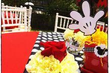Mickey birthday's ideas / Mickey party deco / by Jimena Del Castillo