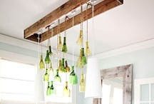 DIY: With Glass / Inspiring DIY Projects to make with bottle's, wine bottles that is.
