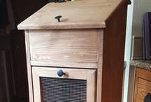 Custom Made Furniture / Potato Bins, Trash Bins, Pie Safes, Benches and more!