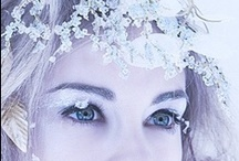 Winter : white snowy sparkly