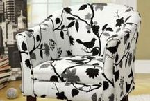 s i t / A seat for my seat. Beautiful fabrics on great chairs that I hope to put in my home. VERY whimsical.   / by Christy Alexander