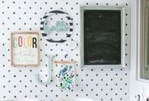 Polka Dot | Home Ideas / Polka Dot Idea Board for our polka dot wall decals. Grab the confetti look or the classic black and white polka dot look without ever damaging your walls.