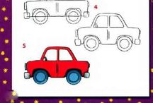 Drawing Tutorials: Transportation / Step-by-step instructions for drawing cars, boats, and trains. / by Polly Wickstrom