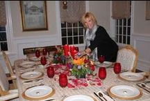 Home Entertaining / I love to create beautiful tables to entertain.  I am known for it amongst my friends and family.  I keep a well stocked pantry of table cloths, napkins & other items to bring a table to life.  I keep it so well organized that i could literally give a party for several dozen for any kind of occasion at a moments notice.  Because all of these items are organized and readily available, I don't find it a chore to entertain.  I share my own tables here and I collect ideas for future gatherings.