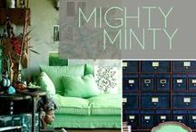Mighty Mint & Nice Navy / Mint & Navy. Decor ideas & inspirations