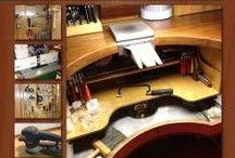 Studio / DIY Jeweler's Desk Inspiration, soldering set ups, lighting, storage, etc.