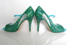 Peacock / Wedding Shoes and Unique shoes Hand painted accessories Find at http://www.norakaren.com or request a custom pair at norakaren2002@yahoo.com / by Norakaren