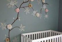 Bomen / Bomen zijn een leuke trend! Plaats ze op de muur in de babykamer of zet ze op een geboortekaartje.