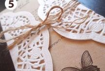 Wedding Stationery / Save-the-Dates, Invitations, Menus Ideas etc.