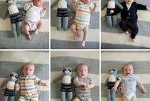 Groeifoto's baby / Wat groeit je baby hard! Dit moet je natuurlijk vastleggen. Wil je dit op een leuke, originele manier doen? Doe hier inspiratie op.