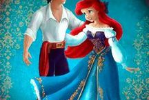 Ariel and Eric / The best illustrations of Ariel (Disney Princess)