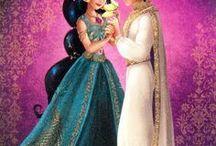 Jasmine and Aladdin / The best illustrations of Jasmine (Disney Princess)