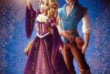 Rapunzel and Flynn / The best illustrations of Rapunzel (Disney Princess)