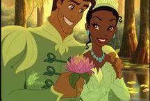 Tiana and Naveen / The best illustrations of Tiana (Disney Princess)