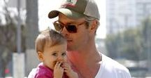 celebrity dads / famous dads  pictures of kids with their celebrity father