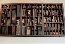 Letterpress drawers, trays, etc. / by Vivien A