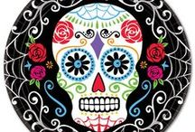 Day Of The Dead | October 31 - November 2 / Dia de los Muertos | Sugar Skulls https://www.windycitynovelties.com/holidays-occasions/holiday-party-supplies/day-of-the-dead.html