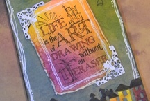 ART - JOURNALS - Art &Visual & mail art / Art and visual journals made with mixed media plus mail art / by Julie Richards