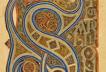 ART - Manuscripts & Illumination / An illuminated manuscript is a manuscript in which the text is supplemented by the addition of decoration, such as decorated initials, borders (marginalia) and miniature illustrations. usually decorated in gold or silver / by Julie Richards