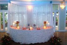 Reception Set Up / Reception set up by Flawless Weddings & Events VI , St.Thomas, Virgin Islands
