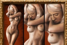 """My works - Digital Life Drawing / Painting without a brush, blending without water, with always clean hands I can play around with my """"dry"""" wacom tablet and try, explore, research painting effect thanks to great painting softwares."""