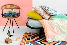 LIFESTYLE | Home Sweet Home / Home is where the heart is and here at Birchbox we are always looking for inspiration on how to make our space fun and cozy. From polka dot pillows to vintage chandleries, these looks add a pop of personality to any room!