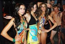 Ed Hardy & Arcus Iris | Toronto Fashion Week / Arcus Iris & Ed Hardy lit up the runway with gorgeous gemstones by Arcus Iris complimenting an explosion of colour on Ed Hardy's swimwear line.